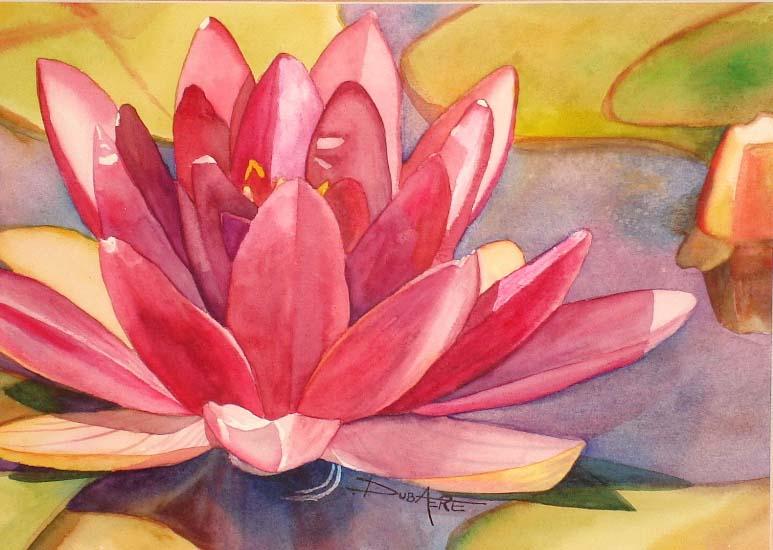 Flowers painting watercolor