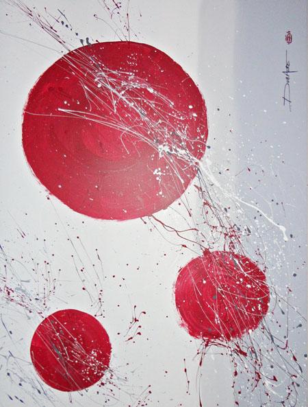 Peinture acrylique sur toile moderne images for Peinture moderne sur toile